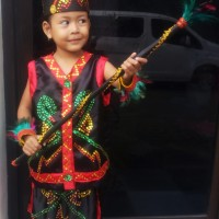 Dayak SD Kls1-3   Baju Adat Kostum Anak Karnaval Parade Pawai Pentas