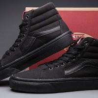 Sepatu Vans SK8 HI Full Black / Hitam Full Murah