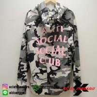 Anti Social Social Club Snow Camo Pink Hoodie Original New