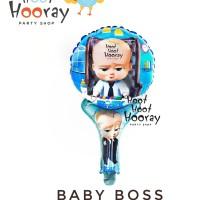 Balon Foil Pentungan Baby Boss / Balon Baby Shower / Balon Gagang