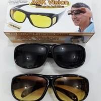 kacamata ask vision 2in1/kacamata anti silau 2in1/kacamata HD vision