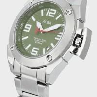 Alba Men AXHG29X1 Jam Tangan Pria Green Army Dial AXHG29 Original