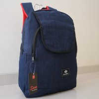 Jual Tas Ransel Backpack Distro Bahan Kain Jeans Levis Sekolah Kerja