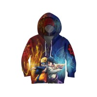Jaket Hoodie Sweater Anak ANIME NARUTO 3D FullPrint Unisex ART 3