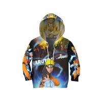 Jaket Hoodie Sweater Anak ANIME NARUTO 3D FullPrint Unisex ART 4