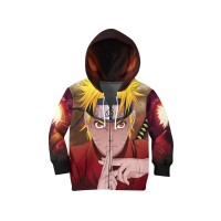 Jaket Hoodie Sweater Anak ANIME NARUTO 3D FullPrint Unisex ART 1