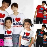 Baju Kaos Pasangan Keluarga Couple Family Tees Anak Ayah Bunda VT-014