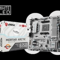 PROMO MURAH MSI B350M MORTAR ARTIC (Socket AM4 DDR4) HARGA MURAH