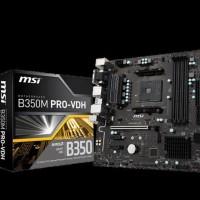 PROMO MURAH MSI B350M Pro VDH (Socket AM4 DDR4) HARGA MURAH