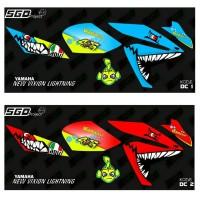 Sticker Striping Yamaha New Vixion Lightning - Shark