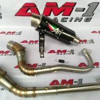Knalpot Racing AR Austin Titan Carbon Mio Sporty Vino M3 Soul Gt Karbu