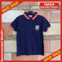 Polo Shirt Anak Laki-Laki Bordir Popeye Branded COOL KIDS (Biru Navy)