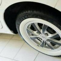 lis ban mobil / white wall wheels Merk ATLAS - R14, R15, R16 - MURAH