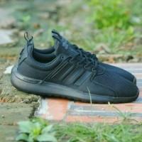 Sepatu Running Adidas Cloudfoam Lite Racer Full Black Original