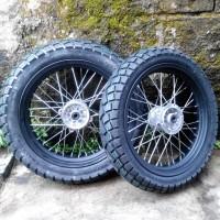 Paket Ban Supermoto - Wheelset Semi Enduro KLX 150 S L BF Dtracker
