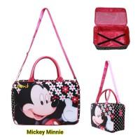 Travel Bag Koper Anak Kanvas Besar Mickey Minnie Komplit Aksesoris