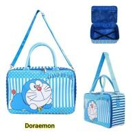 Travel Bag Koper Anak Kanvas Besar Doraemon Komplit Aksesoris