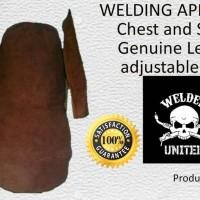 Apron Las set Murah kulit asli(genuine leather)