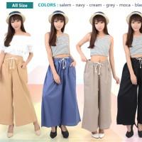 Celana Panjang Kulot Katun Jumbo Pants Girl Wanita Women Woman Fashion