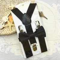 suspender dasi kupu anak dn bayi set suspenders hitam import sse store