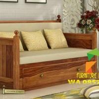 Sofa kayu bantalan busa