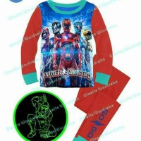 baju tidur anak cowok piyama gw power ranger import