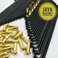 jari jari jeruji model tdr hitam gold oemakaian motor ring 14 16 17 18