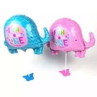 Balon Foil Gajah/ Balon Baby Shower/ Balon Baby Girl/ Balon Baby Boy