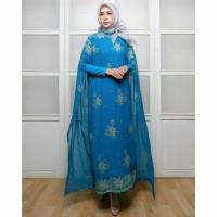 Baju Syari / Pakaian Wanita Muslim Kaftan CKR INDIA Blue Termurah