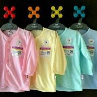 Libby Baju Lengan Panjang Kancing Depan Anak Bayi Warna Polos SML