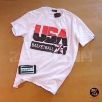 BAJU KAOS BASKET USA BASKETBALL RETRO LOGO ( TSHIRT BASKET TEAM USA )