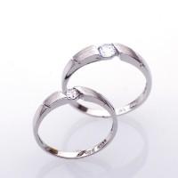 RC 038 - Ring Couple Korea, Silver Emas Putih ASLI - Garansi 6 bulan