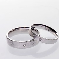 RC 027 - Ring Couple Korea, Silver Emas Putih ASLI - Garansi 6 bulan