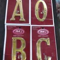 Nomor rumah / angka rumah / huruf rumah kuningan