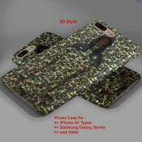 BAPE X Puma Long Camo Jacket hard case,iphone case semua hp