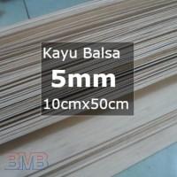 Kayu Balsa 5mm Sheet 10cmx50cm