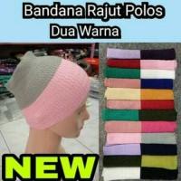 Bandana Rajut Polos Dua Warna Ciput hijab Anti Pusing