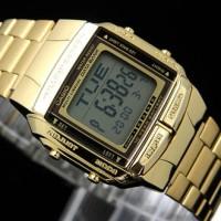 JAM TANGAN CASIO DB-360G-9ADF PRIA/WANITA GOLD ORIGINAL