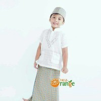 [New]  Baju Koko Anak Balita Lengan Pendek Bordir Putih (1- 7 tahun)