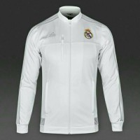 Jaket Bola Grade ORI Real Madrid Anthem White Official 2015-2016