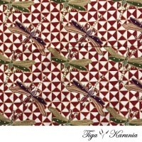 Kain Batik Asli Print Capung Bahan Kemeja Kebaya Jarik Atasan Katun