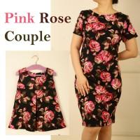baju couple | Pink Rose Couple | baju kembar | dresscouple