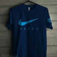 Kaos Tshirt Baju Combed 30S Distro Nike Barca BArcelona