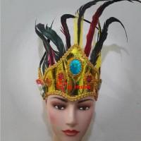 aksesoris kepala bulu bulu baju adat tari tradisonal