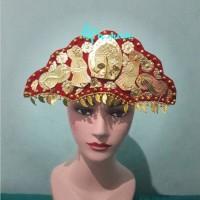 perhiasan kepala palembang anak baju adat tradisional sumatera