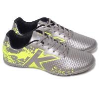 Sepatu FUTSAL - KELME - STAR EVO - SILVER / LIME