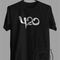 Kaos - Baju - Tshirt 420 - Abu-abu Muda, S