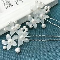 Tusuk Konde Sanggul Hiasan Rambut Pesta bunga putih