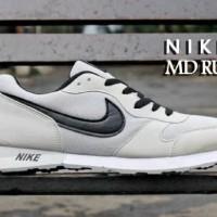 TERLARIS! Sepatu Nike MD Runner Abu List Hitam MURAH! BUKAN nmd yeezy