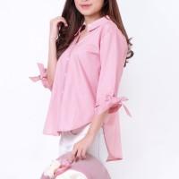 Baju Atasan Kemeja Wanita Lengan 3/4, Baju Kemeja Murah Online Shop